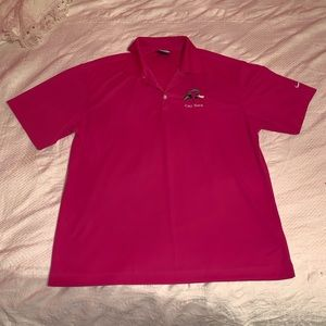 Embroidered Pink Polo